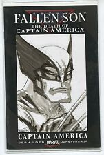 Death of Captain America Sketch Variant Cover - Wolverine art by Micah Gunnell