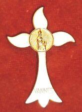 BROCHE religieuse Emaux enamel  Vierge Enfant Jésus VANNES Arthus Bertrand Paris