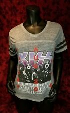 XL Kiss Destroyer Tour Anaheim Stadium sheer T-shirt Punk Rock Retro