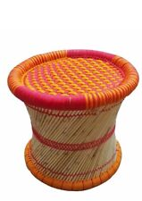 eGharonda Cane Wood Garden/ Home/ Bar/ Restaurant Stool/ Mudda