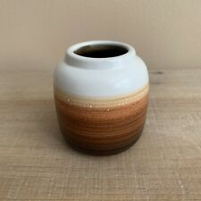 "Small Ombre Bud Vase, White, Beige, Light Brown, Dark Brown, Fall Decor, 3"""