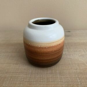 Small Ombre Bud Vase, White, Beige, Light Brown, Dark Brown, Fall Decor, 3""