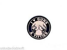 I Love Guns Sand PVC Airsoft Paintball Patch