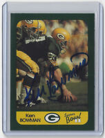 PACKERS Ken Bowman signed card Super Bowl II AUTO SB 2 Green Bay Autographed