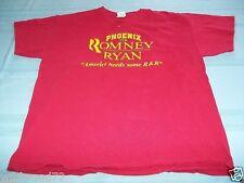 "Phoenix for Romney / Ryan ""America Needs Some R&R"" T-Shirt Size XL Republican"
