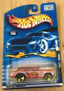 Hot Wheels 2000 #196 - Chevy Nomad - Gold Wheels - New In Box
