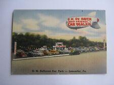 VINTAGE 1970s BUSINESS CARD D.M. DeHAVEN CARS LANCASTER PA MELLINGER'S STUDIO