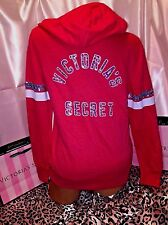 Victorias Secret Supermodel Sequin Logo Hoodie Coral XS