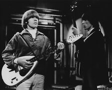 Rolling Stones Brian Jones teardrop guitar Bill Wyman 8x10 Photo