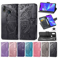For Asus ZenFone Max Pro Butterfly Flip Leather Wallet Stand Card TPU Case Cover