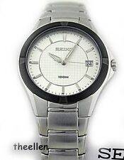 New SEIKO MENS Watch 100m  SGED97 Date $270