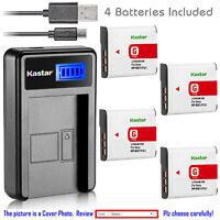 Kastar Battery LCD USB Charger for Sony NP-BG1 NP-FG1 & Sony Cyber-shot DSC-W120