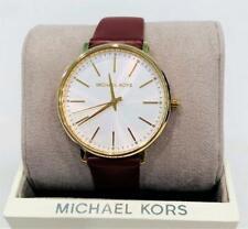 Michael Kors MK2749 Ladies Pyper Watch  Merlot Leather Band NWT $150