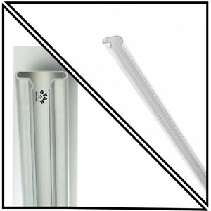 ALUMINIUM CLIP|SLIDE|SNAP|PUSH IN SLATWALL|SLAT|SLOT|WALL PANEL BOARD INSERTS