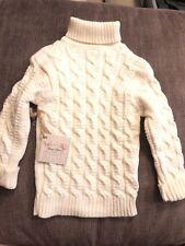 New Girl Boy Toddler 3T Winter Sweater Warm Soft Unisex White Cream
