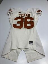 GAME WORN USED TEXAS LONGHORNS FOOTBALL JERSEY SIZE 44 #36
