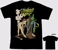 Vintage CANNABIS CORPSE Tour Concert Short Sleeve S-234XL Black T-shirt C873
