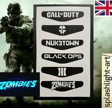 PS4 Controller Light Bar 6x Call of Duty VINYL Sticker ZOMBIES Playstation 4 COD