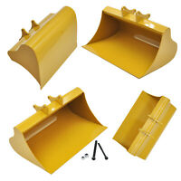 Simulation Metal Digging Bucket for Huina 580 Excavator RC Model Accessories