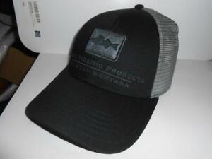 New Simms Bozeman Montana Fishing Walleye Mesh Back Adjustable Hat BLACK B160