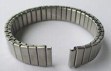 Flexarmband, silberfarben, Stegbreite 12 mm, Elastikarmband, Metallarmband,
