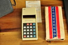 Vintage Retro Boxed Commodore 796M Personal Electronic Calculator Red LED
