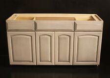 """Kraftaid 60"""" Pewter Maple Bathroom Vanity Sink Base Cabinet Ask 4 Granite"""