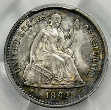 PCGS MS64 1862 SEATED LIBERTY HALF DIME
