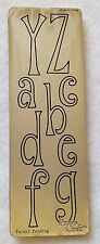 Replacement Cutting Die Serif Letters YZabcdefg Provo Craft Cuttlebug Machine