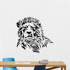 Lion Head Wall Decal African Wild Animal Vinyl Sticker Home Decor Mural 122nnn