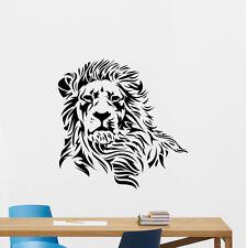 Lion Head Wall Decal African Wild Animal Vinyl Sticker Home Decor Mural 122nnn