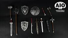 1/18 FIGURE - AIO Fantasy Weapon Set Knight - Wave 1 Sliver  (AIO-WS001-S)