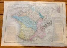Ancienne carte géographique : La France   . Fin XIXeme