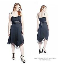 NEW Speechless Black Strapless Chiffon Empire Dress Sharkbite Hem Formal 2X