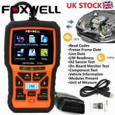 OBD2 Fault Code Reader Scanner Engine Car Diagnostic Reset Tool Foxwell NT301