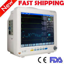 Icu Ccu 12 6 Parameters Patient Monitor Cardiac Vital Signs With Visual Alarm