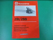 Husqvarna motosega moto sega manuale uso manutenzione operator's manual 281 288