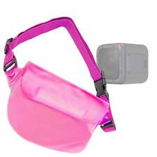 Waterproof Travel Pink Case W/ Strap for GoPro Hero 5 Black / Hero 5 Session
