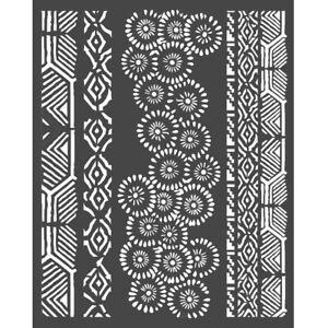 NEW Stamperia  Thick Stencil 20 x 25cm Amazonia Tribals