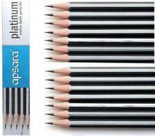 APSARA PLATINUM EXTRA SUPER DARK PENCILS, FREE 1 Eraser & Sharpener - 10 Pencils