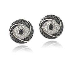 Stud Sterling Silver I2 Fine Diamond Earrings