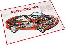 Opel Astra Cabriolet Poster Beilage Opel Start 90er J. Auto PKWs Deutschland