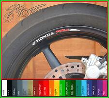 8 X Honda Fireblade Rueda Llanta Stickers Calcomanías-Cbr900rr Cbr 900rr 954rr 929rr