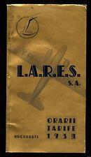 c665 ROMANIA LARES 1938 ROMANIAN ROYAL AIRLILINES RARE BOOKLET