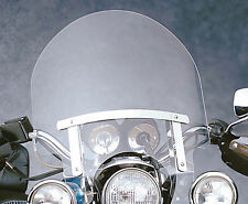 "Harley Sportster XL 883 1200 Custom 17"" (Spot Light Cut) Windshield w/chrome kit"