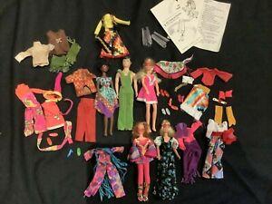 VTG MOD Rock Flower Dolls Clothing Shoes Glasses 70s Doug Rosemary Mattel
