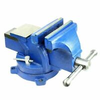 "4"" Heavy Duty Steel Bench Vise with Anvil - Swivel Locking Base Table Top Clamp"