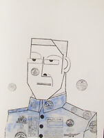 SAUL STEINBERG - THE MAJOR - ORIGINAL LITHOGRAPH - 1966 - FREE SHIP IN US !!