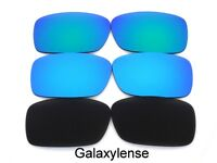 Galaxy Replacement Lenses For Oakley Crankcase Black&Blue&Green Polarized 3Pairs