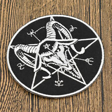 1 Pc Satan Pentagram Patch Iron On Sewing Emblishment Clothing Decor Craft DIY